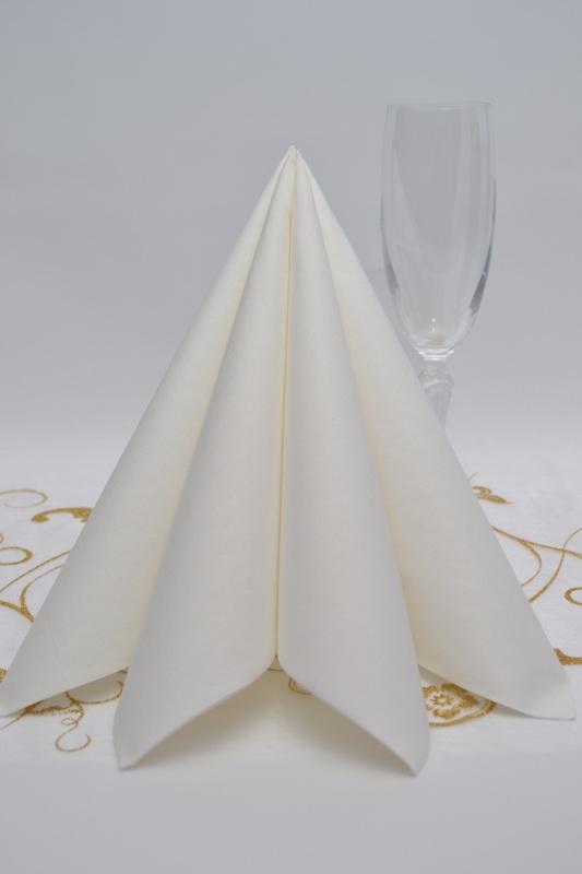 Obrúsok DUNI - biela 5ks