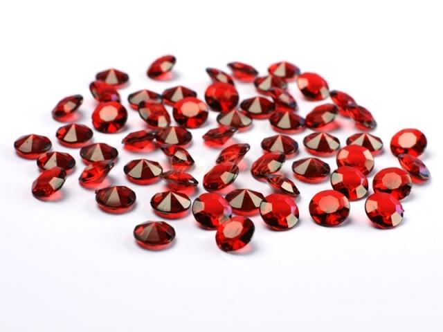 Dekoračné diamanty - bordó