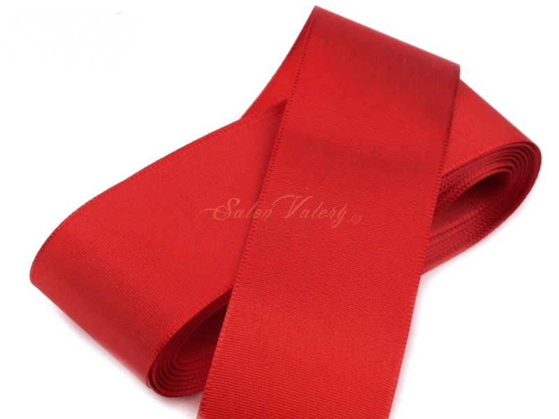 Taftová stuha červená 40 mm x 10 m