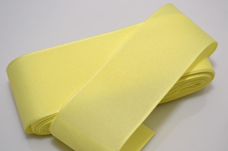 Taftová stuha žltá 40 mm x 10 m