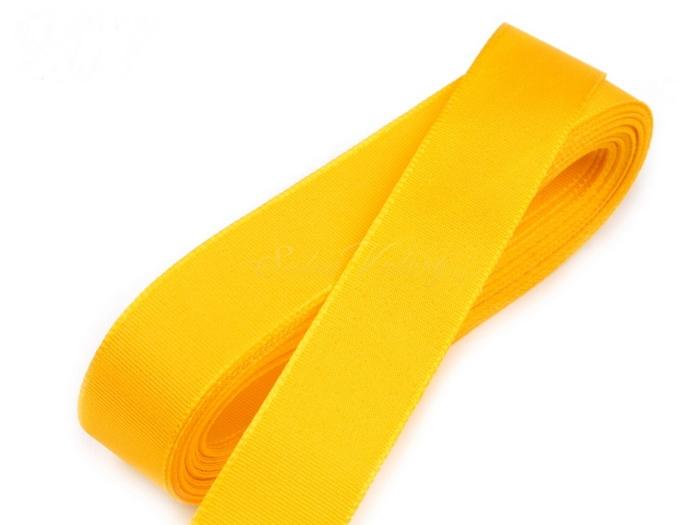 Taftová stuha žltá 15 mm x 10 m