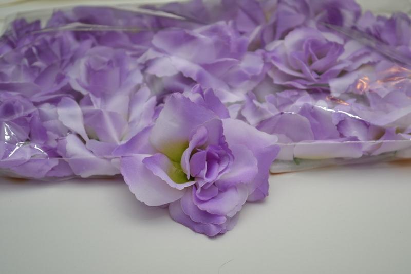 Balenie samolepiacich ruží 24 ks - fialové