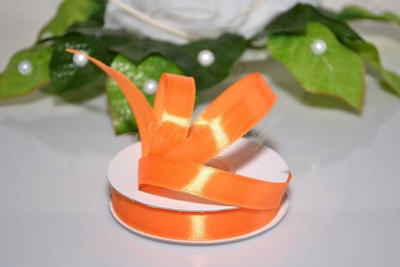Saténová stuha 12 mm x 25 m - oranžová