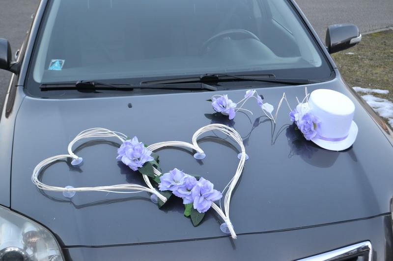 Sada na auto novomanželů - více barev