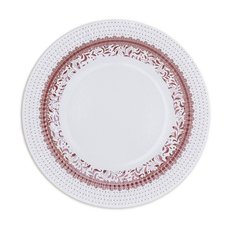 Papierové taniere (8 Ks) - hnědá