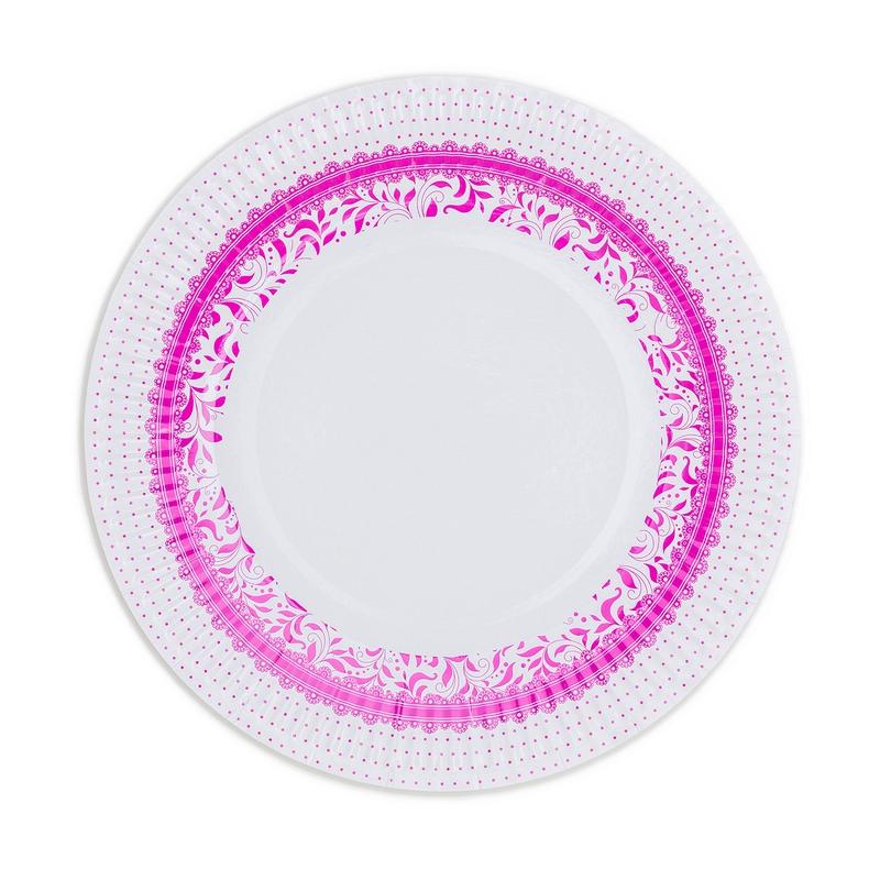 Papierové taniere (8 Ks) - fuchsiová