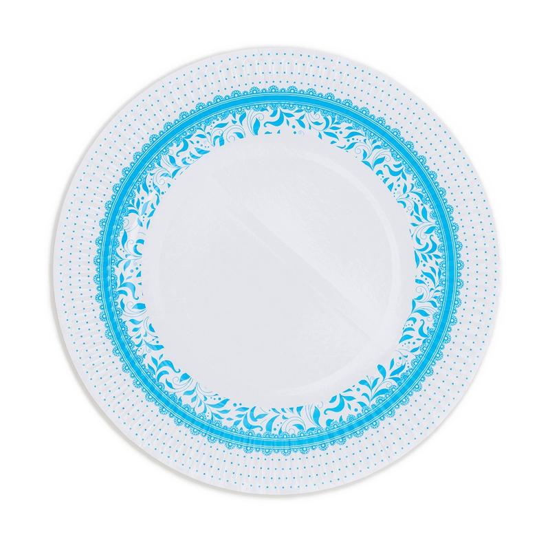 Papierové taniere (8 Ks) - modrá