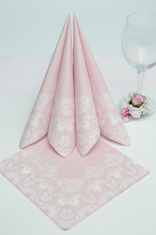 Papierové obrúsky s bielou bordúrou