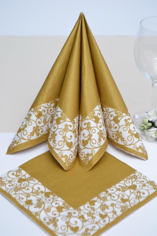 Svatebné obroúsky- zlaté srdiečka
